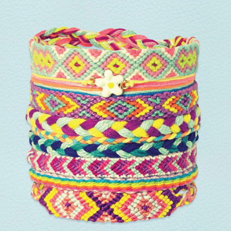 Hand-crafted multi-colored friendship bracelet