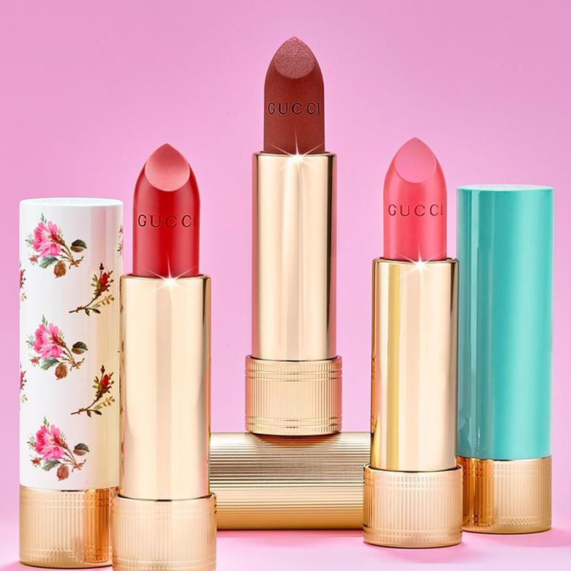 An array of lipsticks