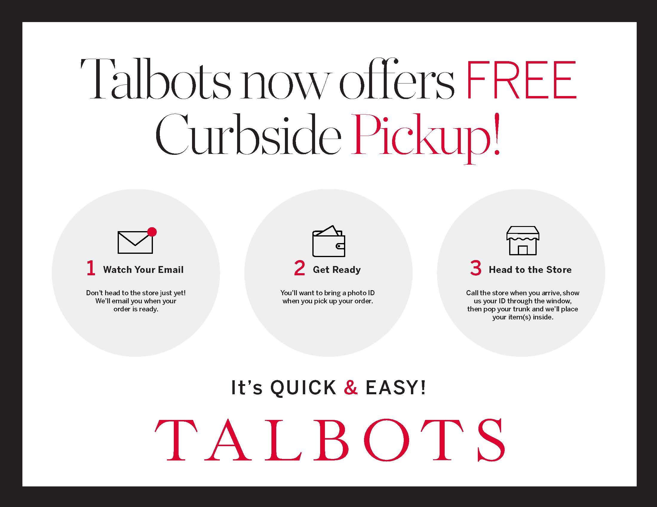 Free Pick-up at Talbots