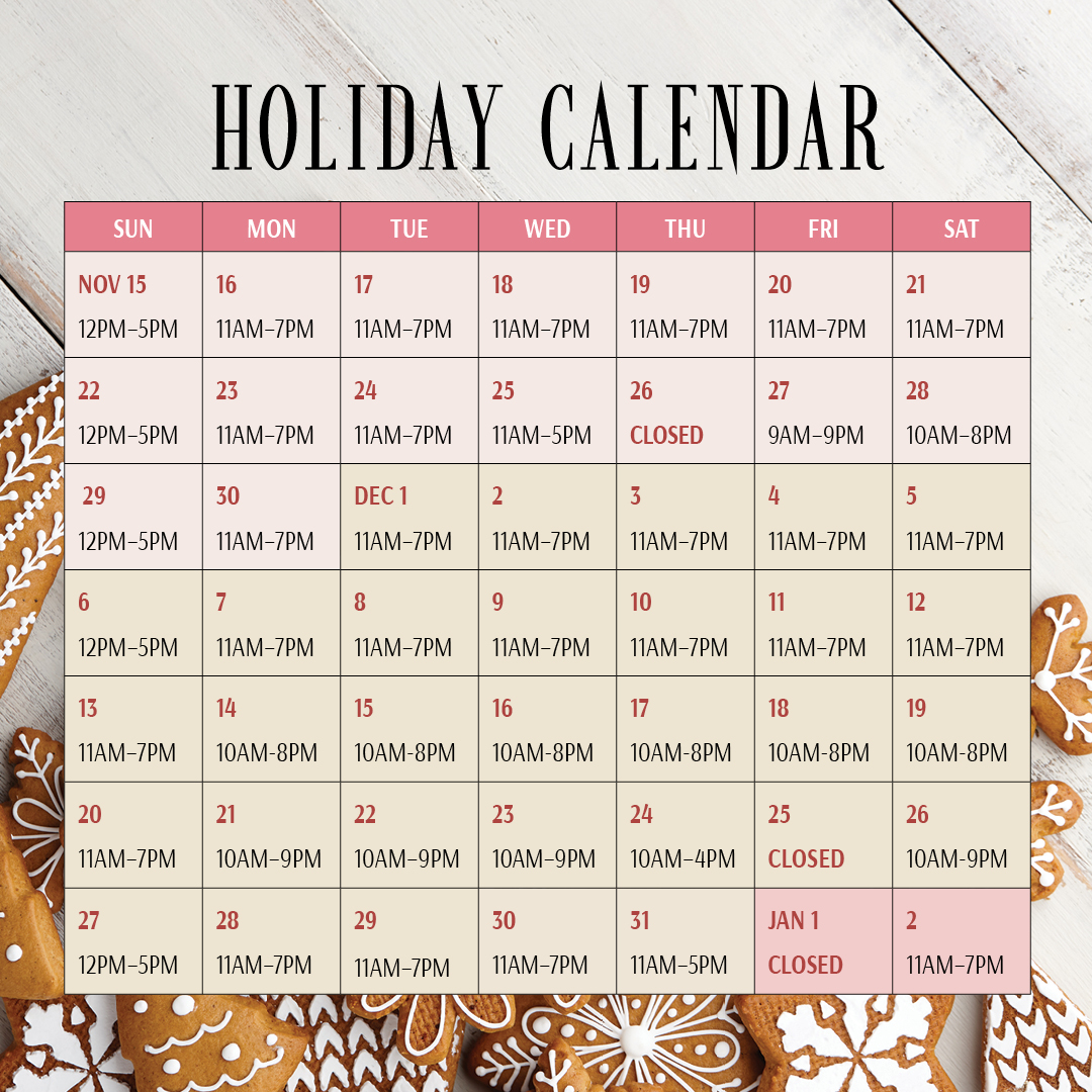 Extended Holiday Hours at Geneva Commons