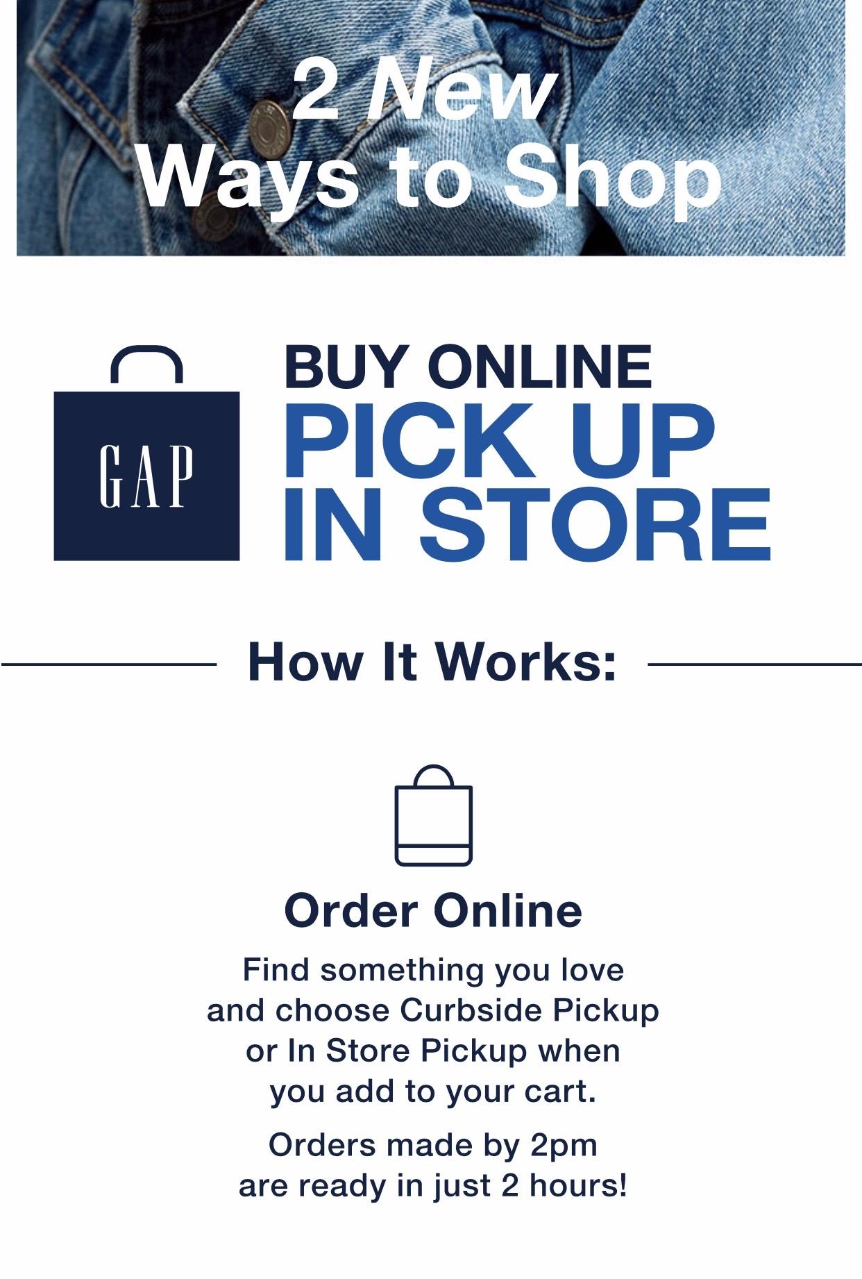 Shop Online & Pick Up