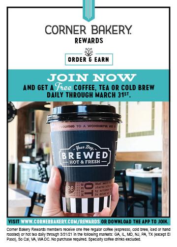 Free Coffee, Tea or Cold Brew!