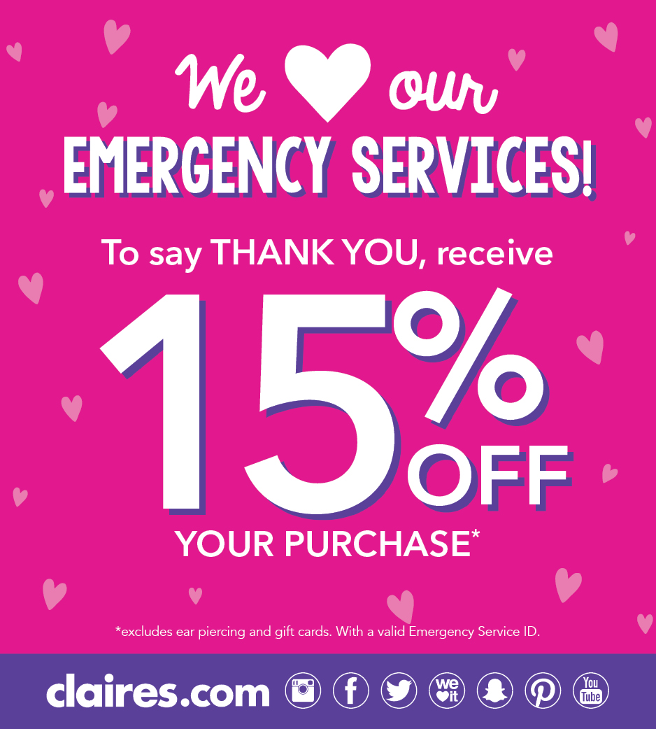 Work in Emergency Services? Save 15%!