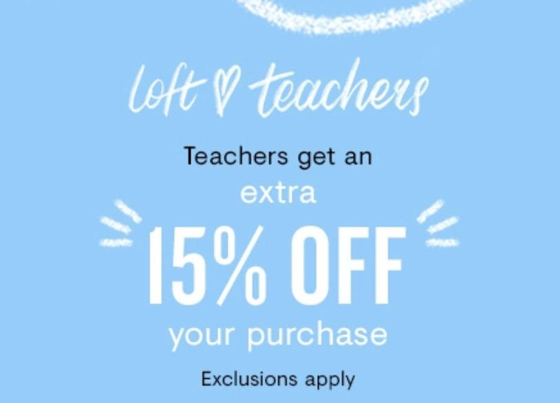 LOFT Teacher's Discount